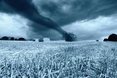 Tornado in arrive. On the hill Stock Image