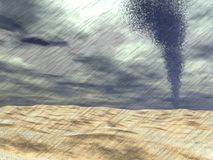 Tornado at the beach - 3D render Royalty Free Stock Photos