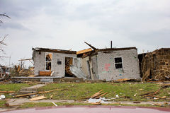 Tornado Beschadigde Mo van Joplin van het Huis stock afbeelding