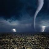 Tornado, Blitz, Ackerland Stockbilder