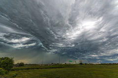 Tornado Clouds over the interstate Stock Photo