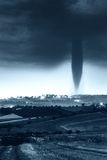 Tornado coming. Terrible tornado is coming on the campaign Royalty Free Stock Photos
