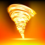 Tornado. Consisting of red flame Royalty Free Stock Image