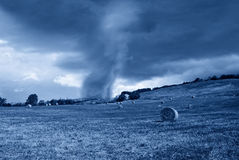 Tornado in countryside Royalty Free Stock Image