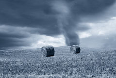 Tornado in countryside Royalty Free Stock Photo
