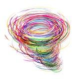 Tornado creativo stock de ilustración