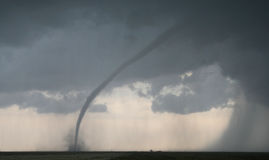 Tornado Cuts Across Farm Field Stock Photo
