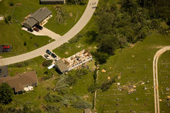Tornado damage. House damaged by tornado in Eagle Wisconsin Stock Images