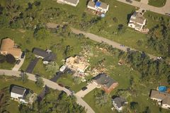 Tornado damage Royalty Free Stock Image