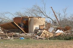 Tornado damage  1a Royalty Free Stock Images