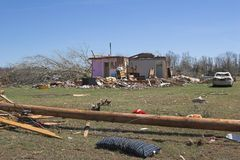 Tornado damage  1b Stock Images