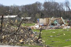 Tornado damage  1m Stock Images