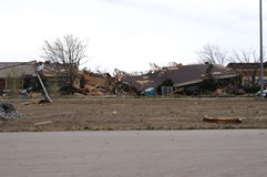 Tornado damage. Damage caused by a f-3 tornado in colorado stock photos