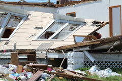 Tornado Damage Caved In Walls Royalty Free Stock Photography