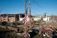 Tornado damage in Henryville, Indiana Stock Photos