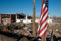 Tornado damage in Henryville, Indiana Royalty Free Stock Images