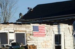 Tornado damage in Henryville, Indiana Stock Photo