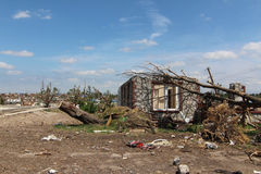 Tornado Damage Home Stock Photography