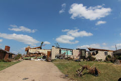 Tornado Damage Home and Belongings Stock Photo