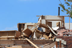 Tornado Damage Home Not So Sweet Home Stock Images