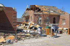 Tornado damage ky 1d Stock Photo