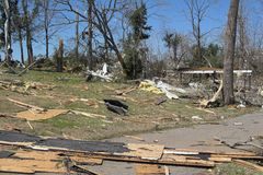 Tornado damage ky 1f Royalty Free Stock Photography