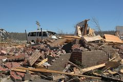 Tornado damage ky 1h royalty free stock images