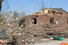 Tornado damage ky 1k Royalty Free Stock Photo