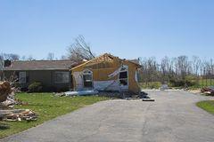 Tornado damage ky 1p Stock Images