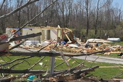 Tornado damage ky 8 Royalty Free Stock Photos
