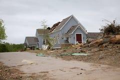 Tornado damaged church Royalty Free Stock Photo