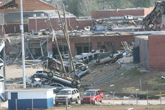 Tornado damaged EHS Royalty Free Stock Image