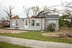 Tornado damaged house Royalty Free Stock Photography