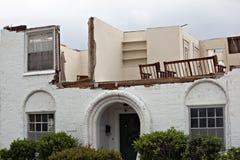 Tornado damaged house Royalty Free Stock Photo