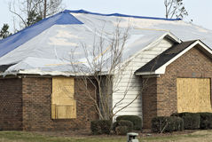 tornado damaged house Royalty Free Stock Images
