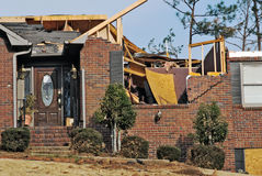 Tornado damaged house Stock Images