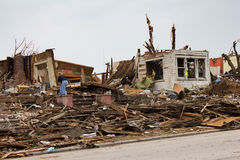 Tornado Damaged House Joplin Mo Royalty Free Stock Images