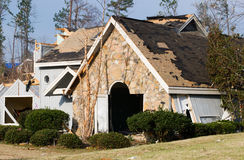 Tornado damaged house Stock Image