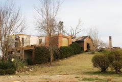 Tornado Damaged Houses Royalty Free Stock Images