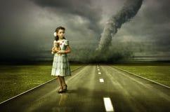 Tornado de la muchacha stock de ilustración