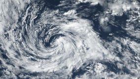 Tornado de la tormenta del huracán, visión por satélite Algunos elementos de este vídeo equipado por la NASA almacen de metraje de vídeo