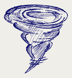 Tornado. De stijl van de krabbel