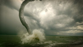 Tornado del océano Fotos de archivo