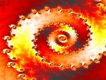 Tornado del volcán ilustración del vector