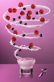 Tornado del yogur Fotografía de archivo