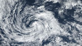 Tornado della tempesta di uragano, vista satellite Alcuni elementi di questo video ammobiliato dalla NASA video d archivio