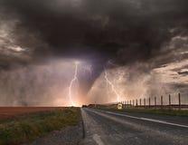 Tornado disaster concept Stock Photo