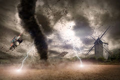 Tornado disaster concept Stock Images
