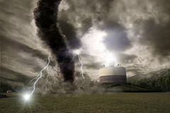 Tornado disaster concept Stock Image