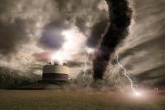 Tornado disaster concept Stock Photography